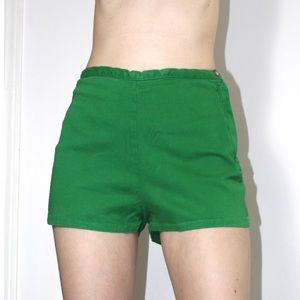 American apparel green high waisted shorts